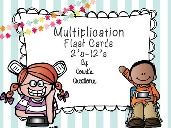Multiplication Facts Flashcards 2's-12's