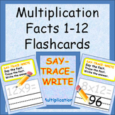 Multiplication Facts Flashcards - Say It, Trace It, Write It