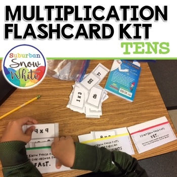 Multiplication Facts Flashcards for Growth Mindset: 10s