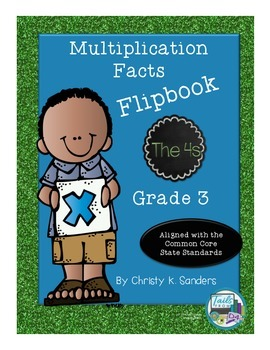 Multiplication Facts Flipbook for Grade 3: The 4s