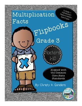 Multiplication Facts Flipbooks for Grade 3: Factors 1-10