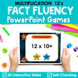 Multiplication Facts Fluency 12's PowerPoint Game