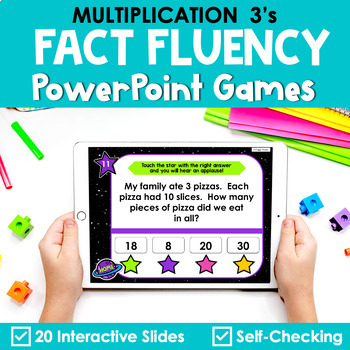 Multiplication Facts Fluency 3's PowerPoint Game