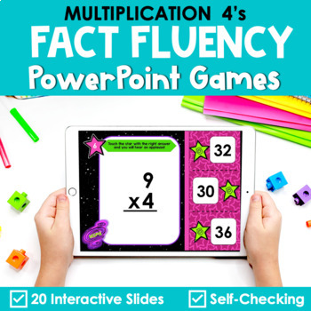 Multiplication Facts Fluency 4's PowerPoint Game