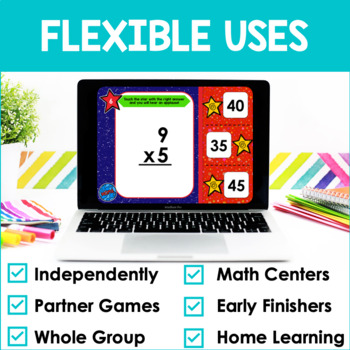 Multiplication Facts Fluency 5's PowerPoint Game