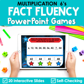 Multiplication Facts Fluency 6's PowerPoint Game