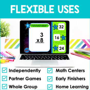 Multiplication Facts Fluency 8's PowerPoint Game