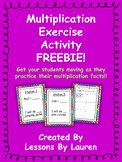 Multiplication Facts Fluency Kinesthetic Exercise Activity FREEBIE