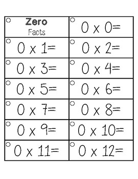 Multiplication Facts Fluency Flash Cards