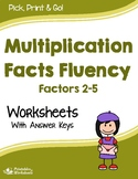 Mixed Multiplication Facts Practice Sheets, Multiplication Facts Homework
