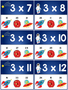 Multiplication Facts Times Table 1 to 12 - Poke Cards | Math Center Activity
