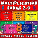 Multiplication Facts Fluency Practice Songs: Digital Flash