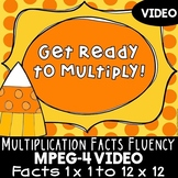 Multiplication Math Facts Practice Video: Fall Theme for Multiplication Fluency