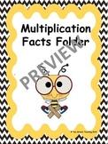 Multiplication Facts Folder