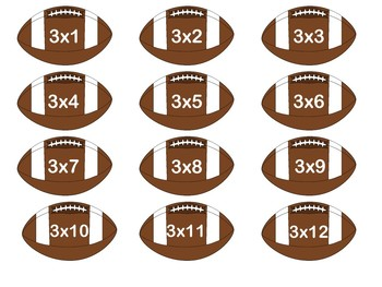 Multiplication Facts Football Board Game