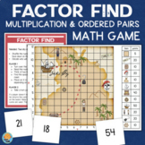 Multiplication Facts Factors Game - Finding Ordered Pairs