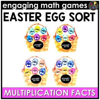 Easter Math Game - Multiplication Facts