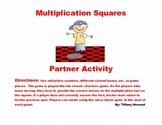 Multiplication Facts Game - Basic Multiplication Squares Game