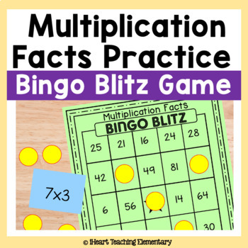 Multiplication Facts Game- Bingo Blitz