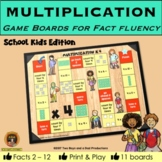 Multiplication Game Boards for Tables 2 to 12 KIDS Edition