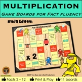 Multiplication Game Boards for Tables 2 to 12 NINJA Edition