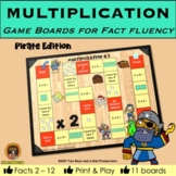 Multiplication Game Boards for Tables 2 to 12 PIRATE Edition