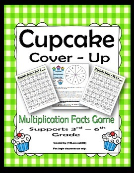 Multiplication Facts Game Cupcake Cover-Up