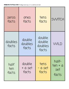 Multiplication Facts Game! One of These Facts Just Doesn't Belong Here