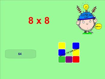 Multiplication Facts Game - Smartboard
