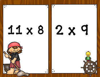 Multiplication Facts Game - Walk The Plank