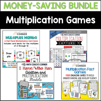 Multiplication Facts Games Bundle