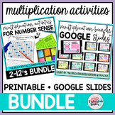 Multiplication Facts Google Classroom™ and Printable BUNDLE