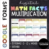 Multiplication Facts  |  Google Forms  |  Distance Learning