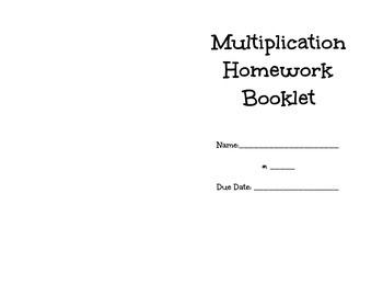 Multiplication Facts Homework Booklet