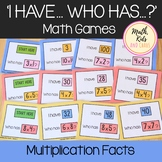 Multiplication Facts I Have Who Has Math Games