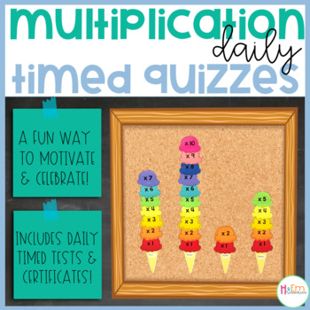 Multiplication Facts Ice Cream Scoops