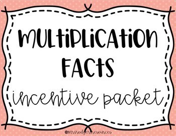 Multiplication Facts Incentive Chart