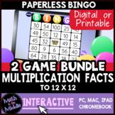 Multiplication Facts Digital Bingo Review Game BUNDLE - Di