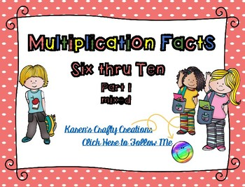 Multiplication Facts: Interactive Game (facts 6 thru 10)
