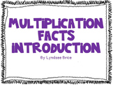 Multiplication Facts Introduction