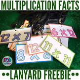 Multiplication Facts Lanyard Tags - FREE