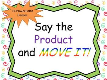 Multiplication Facts MOVE IT!  14 PowerPoint Games!