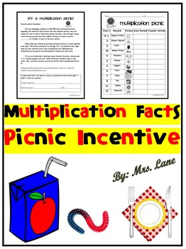 Multiplication Facts Picnic Incentive