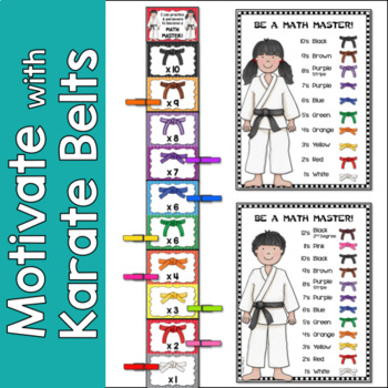 Multiplication Fact Fluency Clip Chart {2's- 12's}