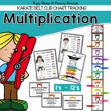 Multiplication Fact Fluency Clip Chart {1's- 12's}