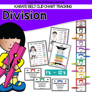 Division Facts Mastery Tracking Clip Chart {2's- 12's}