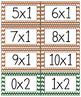 Multiplication Facts Math Flash Cards Set