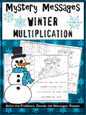 Multiplication Facts Math Mystery Messages - Winter Edition