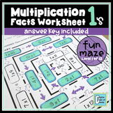 Multiplication Facts Worksheet 1's