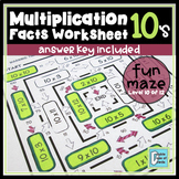 Multiplication Facts Worksheet 10's